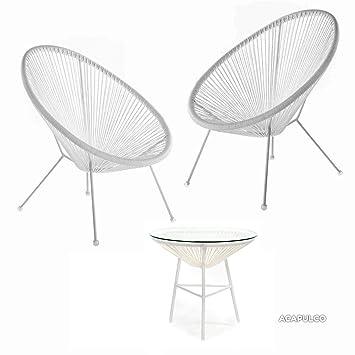 Mustdunet 2x Fauteuils Design Oeuf Avec Table D Appoint