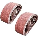 SACKORANGE 20 PCS 3 x 18 Inch Sanding Belts | 40 Grit Aluminum Oxide Sanding Belt | Premium Sandpaper for Portable Belt…