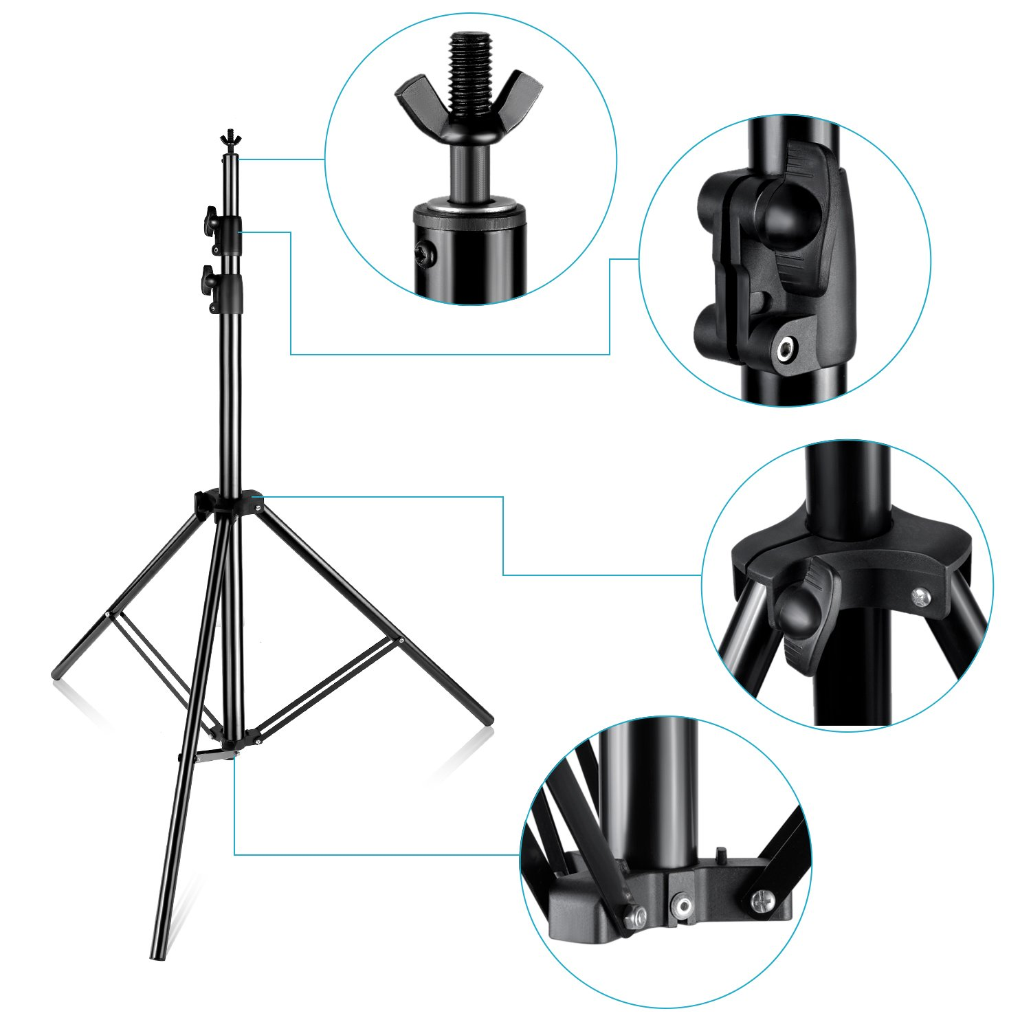 Neewer Pro 10x12 feet/3x3.6 Meters Heavy Duty Adjustable Backdrop Support System Photography Studio Video Stand with Carrying Bag for Backdrop Background by Neewer (Image #7)