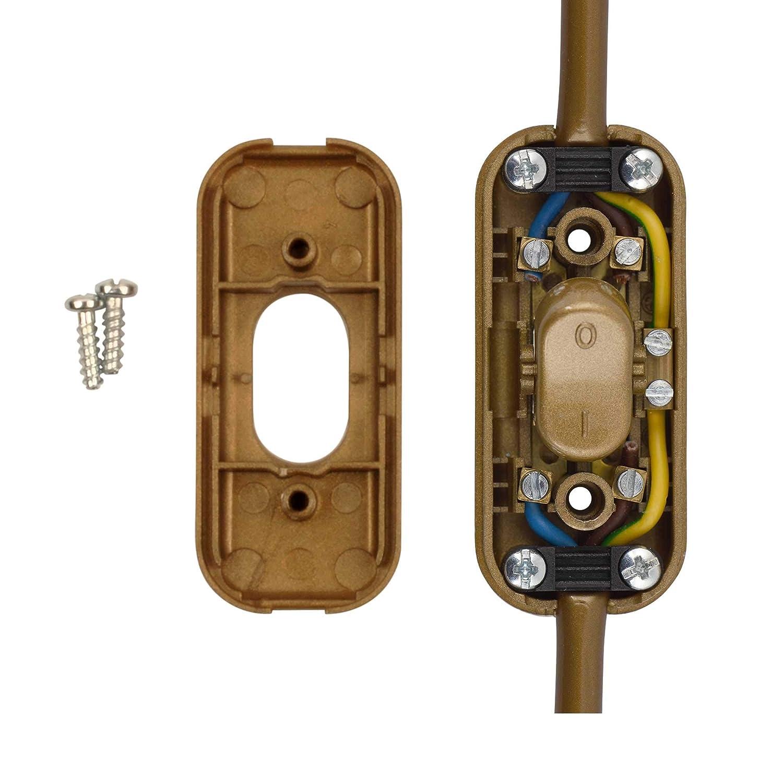 Transparent Low Profile in-Line Torpedo Switch 2 Amp Use 2 or 3 Core Flex ElekTek
