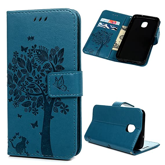 best sneakers 8e24a 119a3 Galaxy J3V J3 V 3rd Gen Case, J3 Wallet Flip Case Kickstand Card Slots 3D  Embossed Flowers Tree PU Leather Wallet Case Shockproof Soft TPU Inner ...