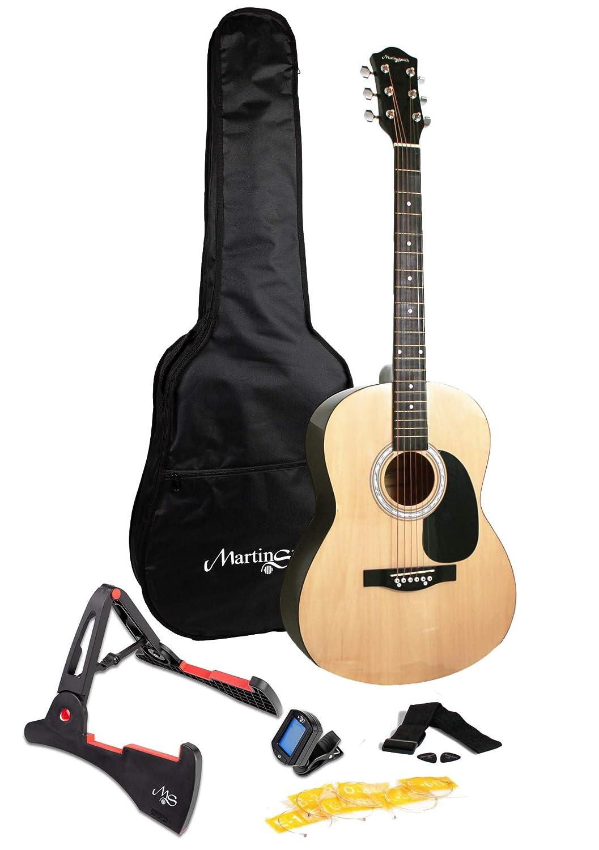 Martin Smith W-101-N-PK - Guitarra acústica de tamaño completo con soporte de guitarra: Amazon.es: Instrumentos musicales