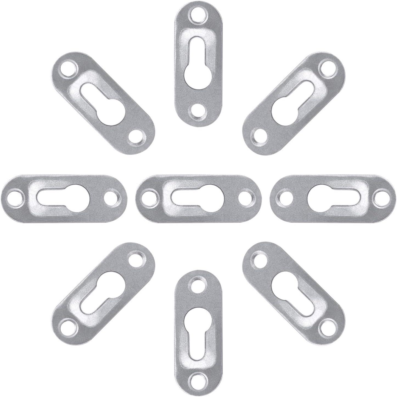 Micgeek 35 piezas de colgadores de ojo de cerradura,accesorios de marco 44 x 16 mm