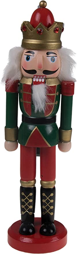 Amazon Com Classic King Nutcracker Traditional Red Green Uniform With Ornate Crown Great Nutcracker For Any Collection Classic Decorative Nutcracker Perfect For Any Decor Theme 100 Wood 10 Tall Home Kitchen