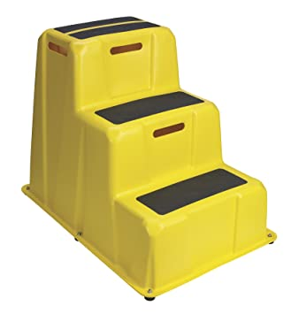 Lightweight Industrial Step Stool- 500 Lb Capacity 30u0026quot; Height 3-Step  sc 1 st  Amazon.com & Lightweight Industrial Step Stool- 500 Lb Capacity 30