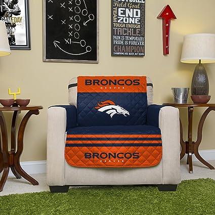 Merveilleux Pegasus Home Fashions NFL Denver Broncos Chair Reversible Furniture  Protector With Elastic Straps, 75