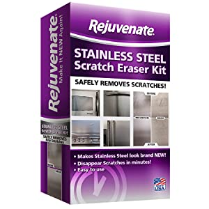 Rejuvenate Stainless Steel Scratch Eraser Kit Safely Removes Scratches Gouges Rust Discolored Areas Makes Stainless Steel Look Brand New – 6 Piece Kit