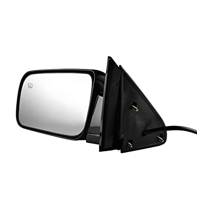 Left Driver Side Painted Black, Heated, Power Operated, Side View Mirror for 1988-2000 C/K 1500 Chevy GMC Truck Suburban - Parts Link #: GM1320276: Automotive