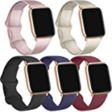 [5 Pack] Silicone Bands Compatible for Apple Watch Bands 38mm 40mm, Sport Band Compatible for iWatch Series 6 5 4 3 SE…