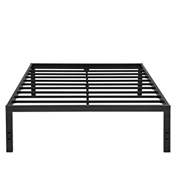 Amazon.com: PrimaSleep 18 Inch Tall Metal Bed Frame with Dura Steel ...
