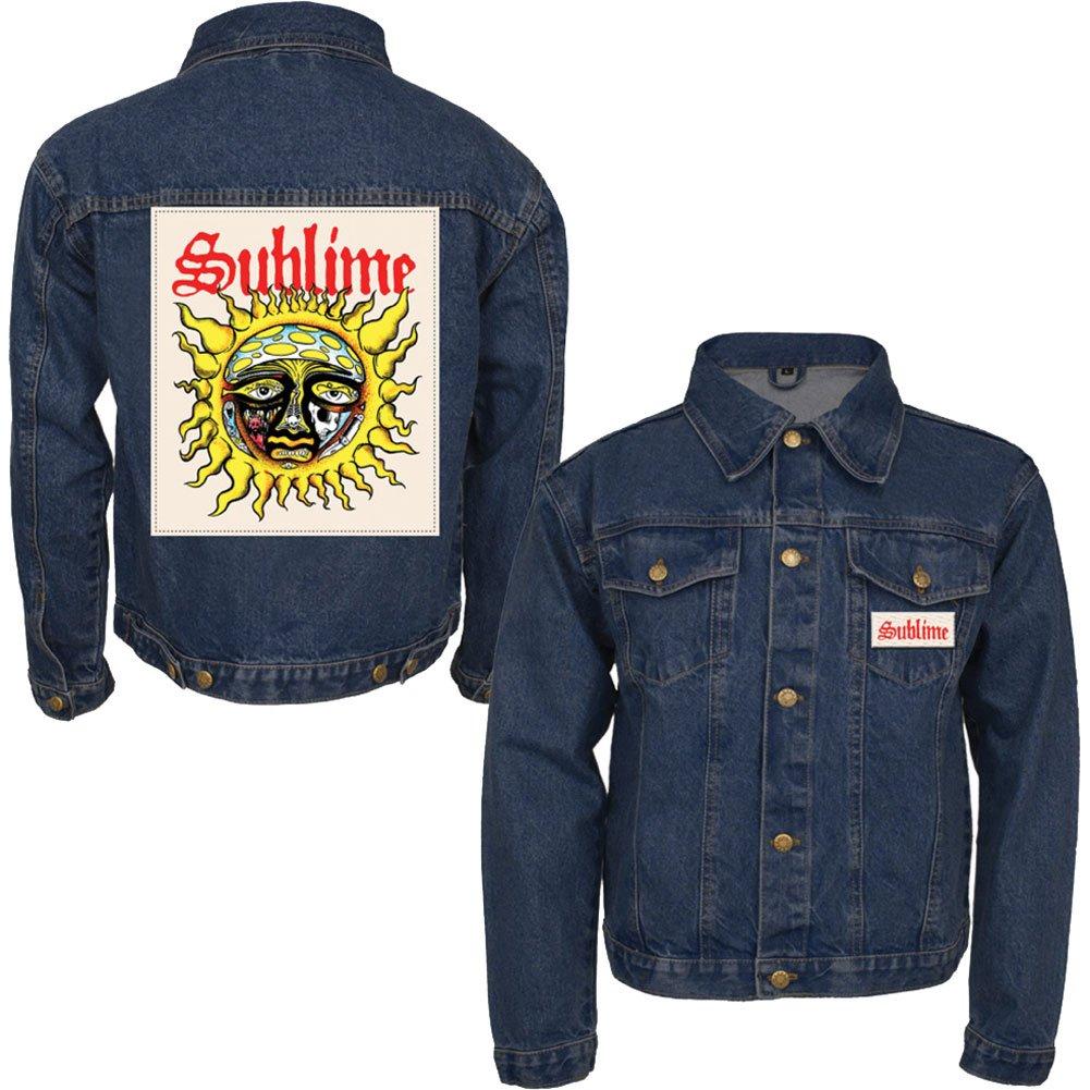 Sublime Men's Sun Patch Denim Jacket Denim Jacket X-Large Denim by Sublime