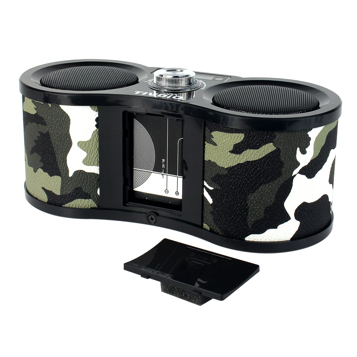 TIVDIO V-113 Portable Transistor FM Stereo Radio Support Mp3 Music Player Speaker Micro SD IF Card Aux Line In Remote(Camouflage) by TIVDIO (Image #4)