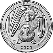 2020 P, D American Samoa National Park Quarter Singles - 2 Coin Set Uncirculated