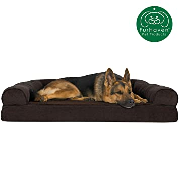 Magnificent Furhaven Pet Dog Bed Orthopedic Sofa Style Traditional Living Room Couch Pet Bed W Removable Cover For Dogs Cats Available In Multiple Colors Ibusinesslaw Wood Chair Design Ideas Ibusinesslaworg