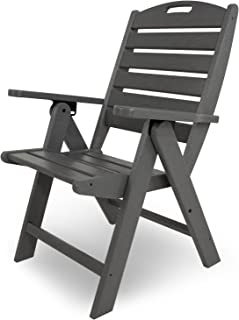 product image for POLYWOOD NCH38GY Nautical Highback Chair, Slate Grey