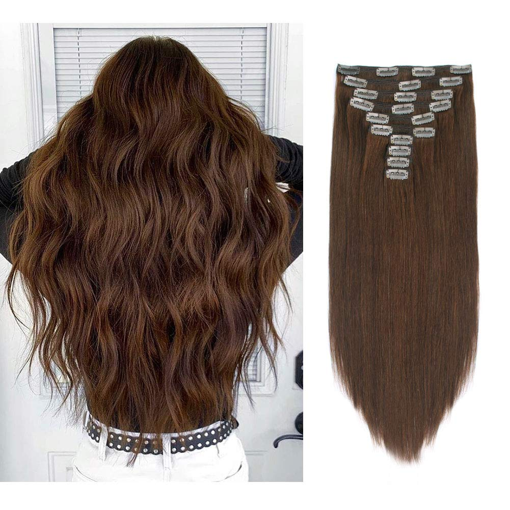 Amazon Com Sixstarhair 220g Warm Chocolate Brown Clip In Extensions Human Hair For Girls 10 Pieces For Full Head Long 22inch Medium Brown Remy Brazilian Hair 10 Pieces Wefts With 20 Clips Beauty,Short Curtains For Small Bedroom Windows
