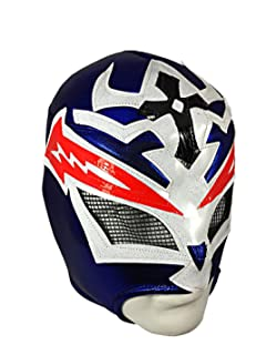 CRAZY BOY Lucha Libre Wrestling Mask (pro-fit) Costume Wear - Blue