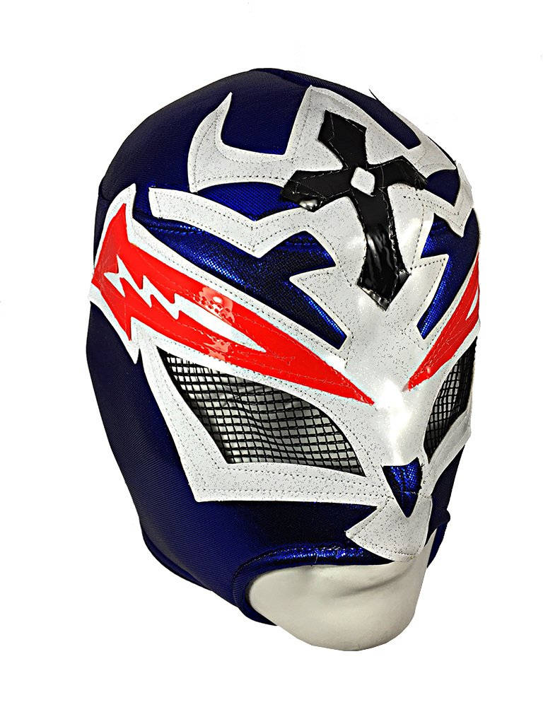 CRAZY BOY Lucha Libre Wrestling Mask (pro-fit) Costume Wear - Blue by Mask Maniac