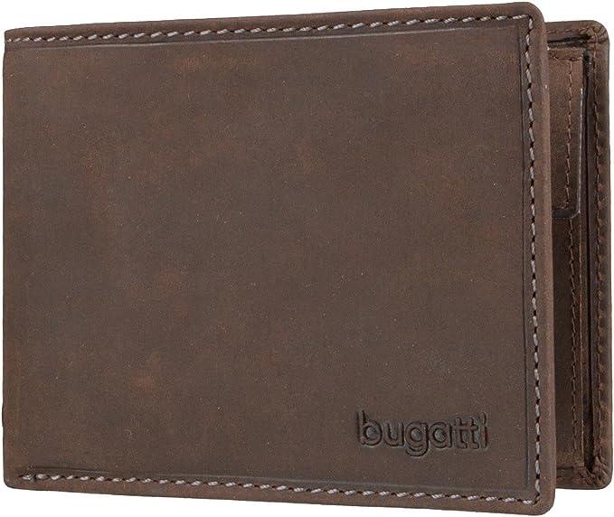 Geldb/örse Herren Cognac Portmonaise Portemonnaie Portmonee Brieftasche Wallet Ledergeldbeutel Bugatti Volo Geldbeutel M/änner Leder