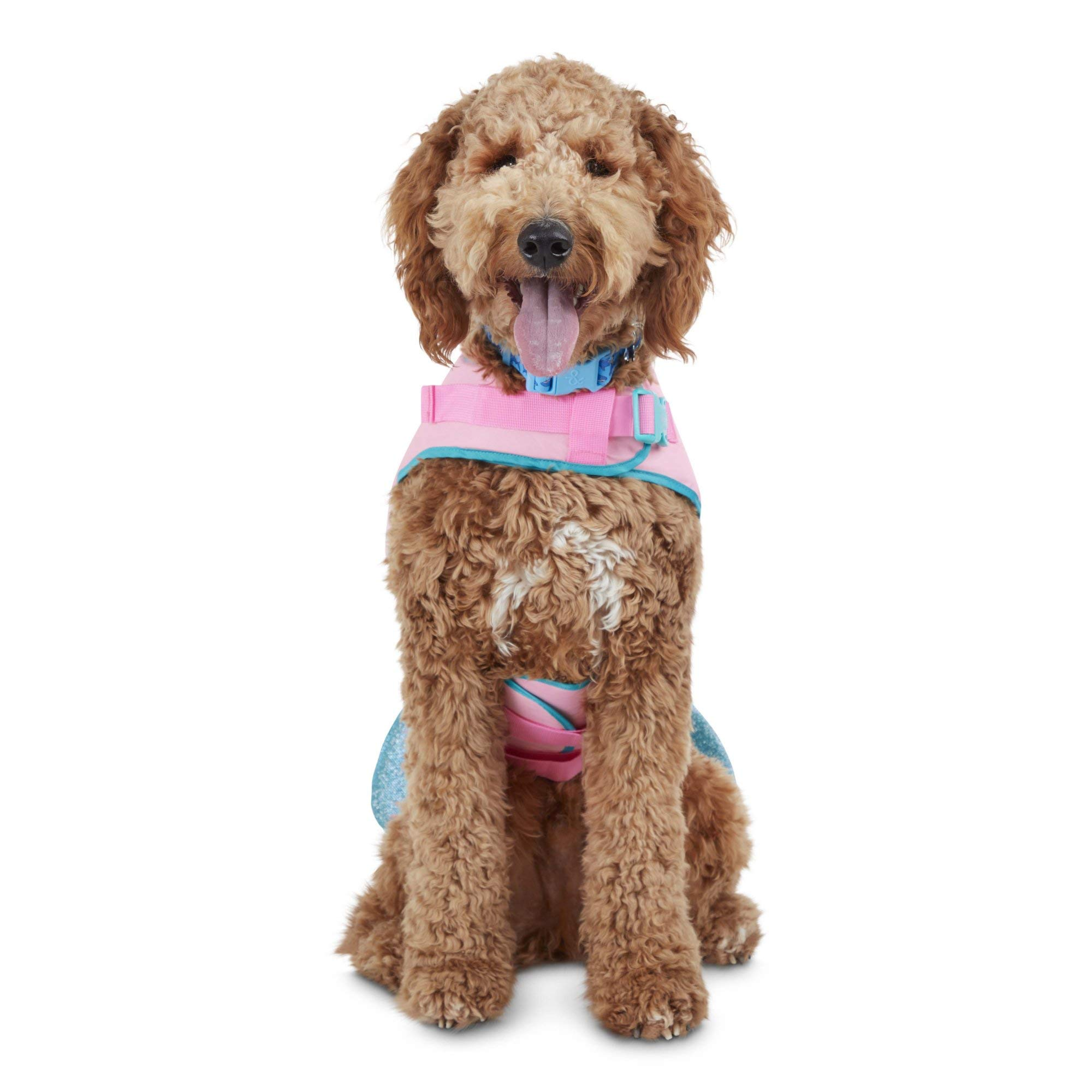 Good2Go Mermaid Dog Flotation Vest, X-Small, Pink/Blue