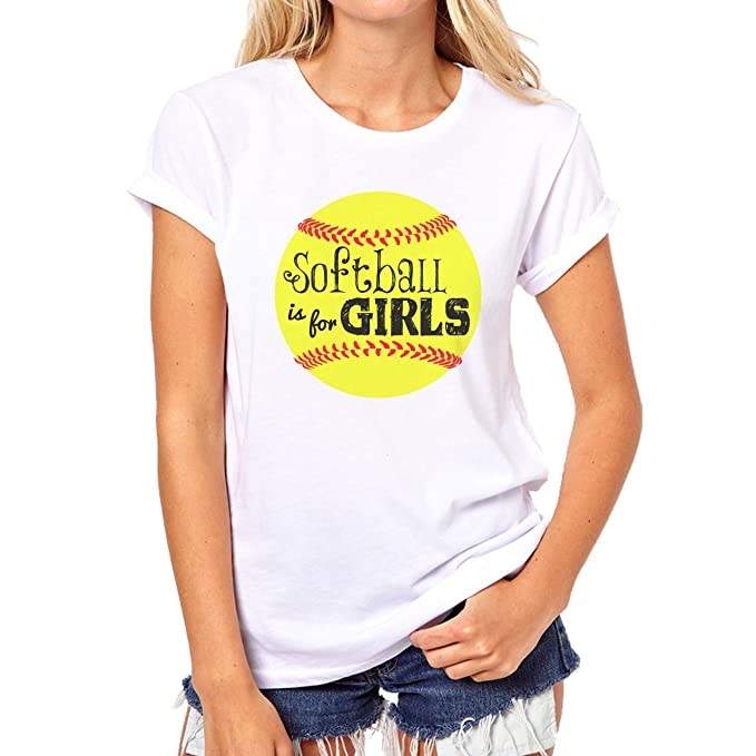 ea7696cf Softball Baseball Girls Ball Funny Quote Humour XXL Mujer T-Shirt:  Amazon.es: Ropa y accesorios