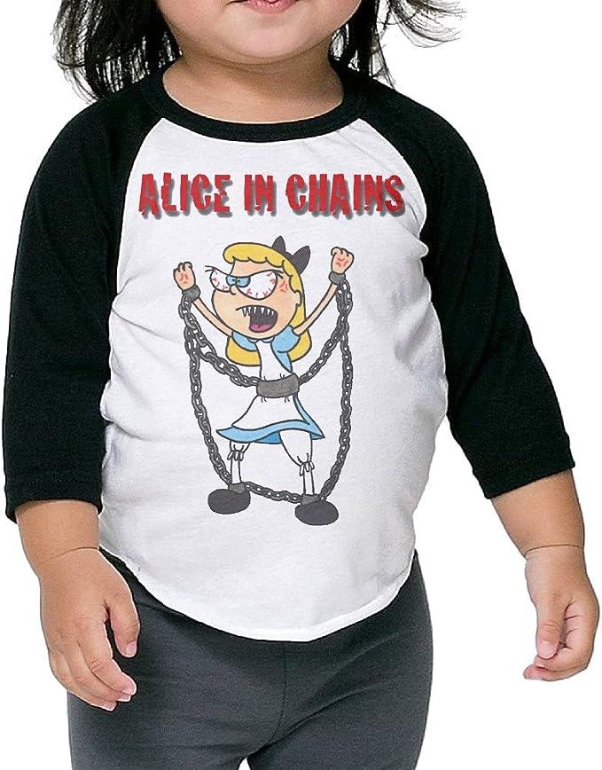 alice in chains sun t-shirt long sleeve BLACK boy girl children blouse toddler