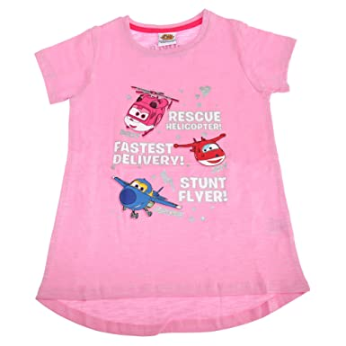 c23b6eb98074 Super Wings Toddler Girls Jerome Donnie and Jett Character T-Shirt:  Amazon.co.uk: Clothing