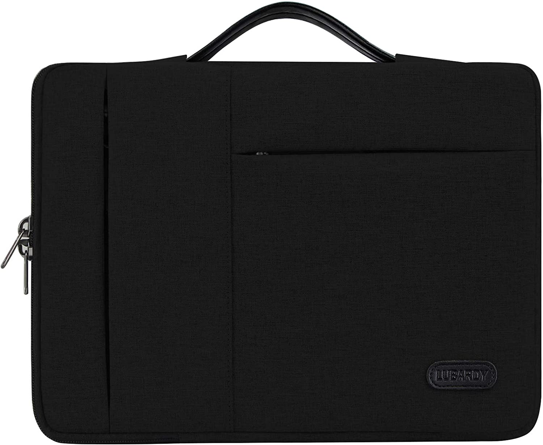 13-14 Inch Laptop Sleeve Bag Case Briefcase for Notebook Computer Ultrabook MacBook Air/Pro Waterproof Protective Tables Case Laptop Sleeve Case Portable Handle Laptop Bag,Black