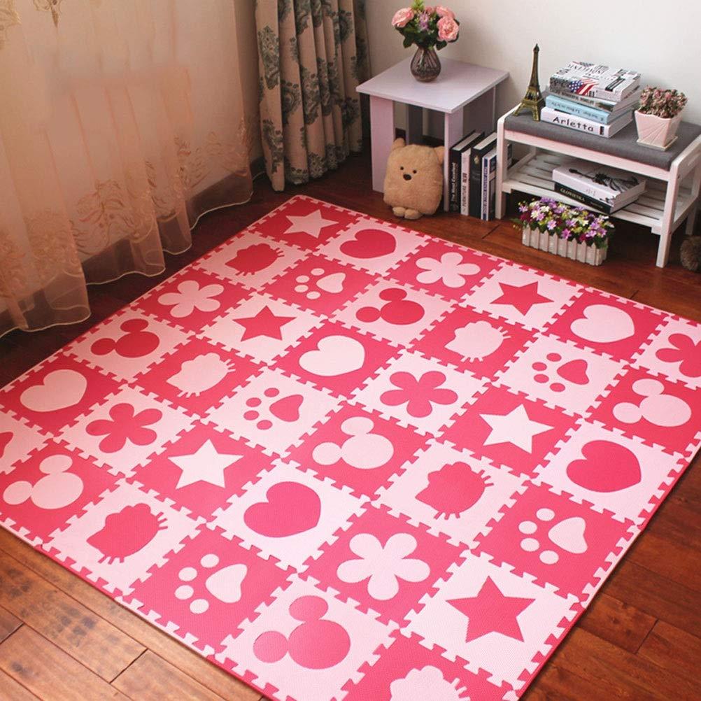 30.8x30.8x2cm72 pieces LUYIASI- Tapis pour enfants Tapis de sol en tapis de jeu de tapis de jeu de tapis de tapis de velours en mousse EVA mousse pour bébé blanket (Taille   30.8x30.8x1cm42 pieces)