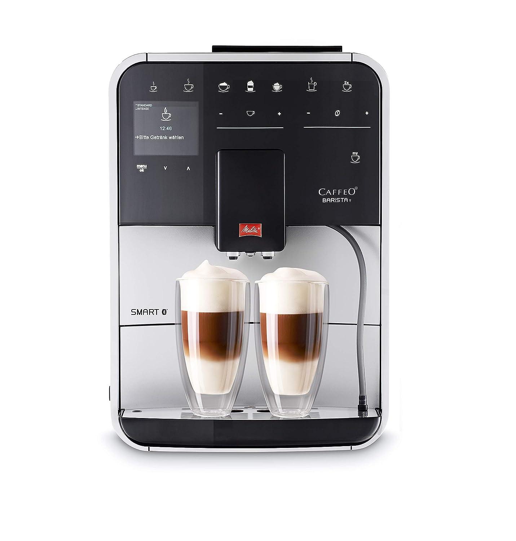 Melitta Caffeo Basista T Smart F831-101, Cafetera Superautomática, Molinillo Silencioso, Pantalla Táctil, 18 Recetas Predefinidas, Contenedor de Leche ...