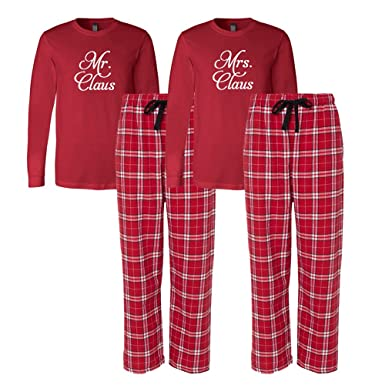 Mr and Mrs Christmas Pajamas, Matching Christmas pajama sets, Our First Christmas Pjs, flannel pajamas, couples pajamas, holiday pajamas