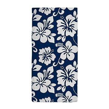 Toallas de baño azul marino hawaiano hibisco playa piscina toallas: Amazon.es: Hogar