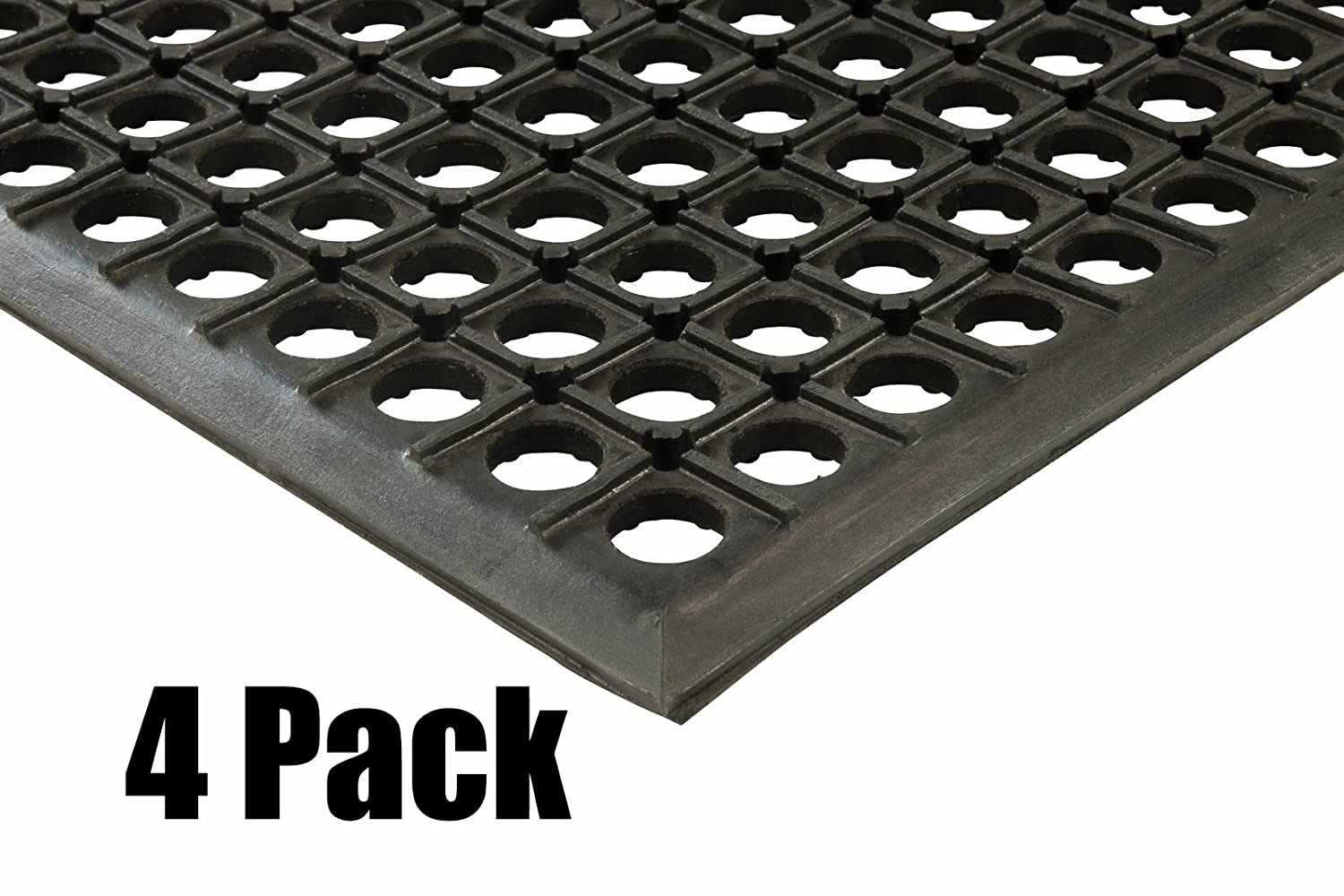 (4) Erie Tools 2x3 Rubber Drainage Floor Mat 24