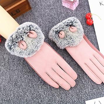 NAN Handschuhe halten warme bequeme Isolierung Radfahren Touchscreen  rutschfeste teilen die Finger schwarz grau rosa weiblich