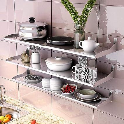 WXP Kitchen furniture - Soporte de cocina de acero inoxidable Soporte de pared Soporte de microondas