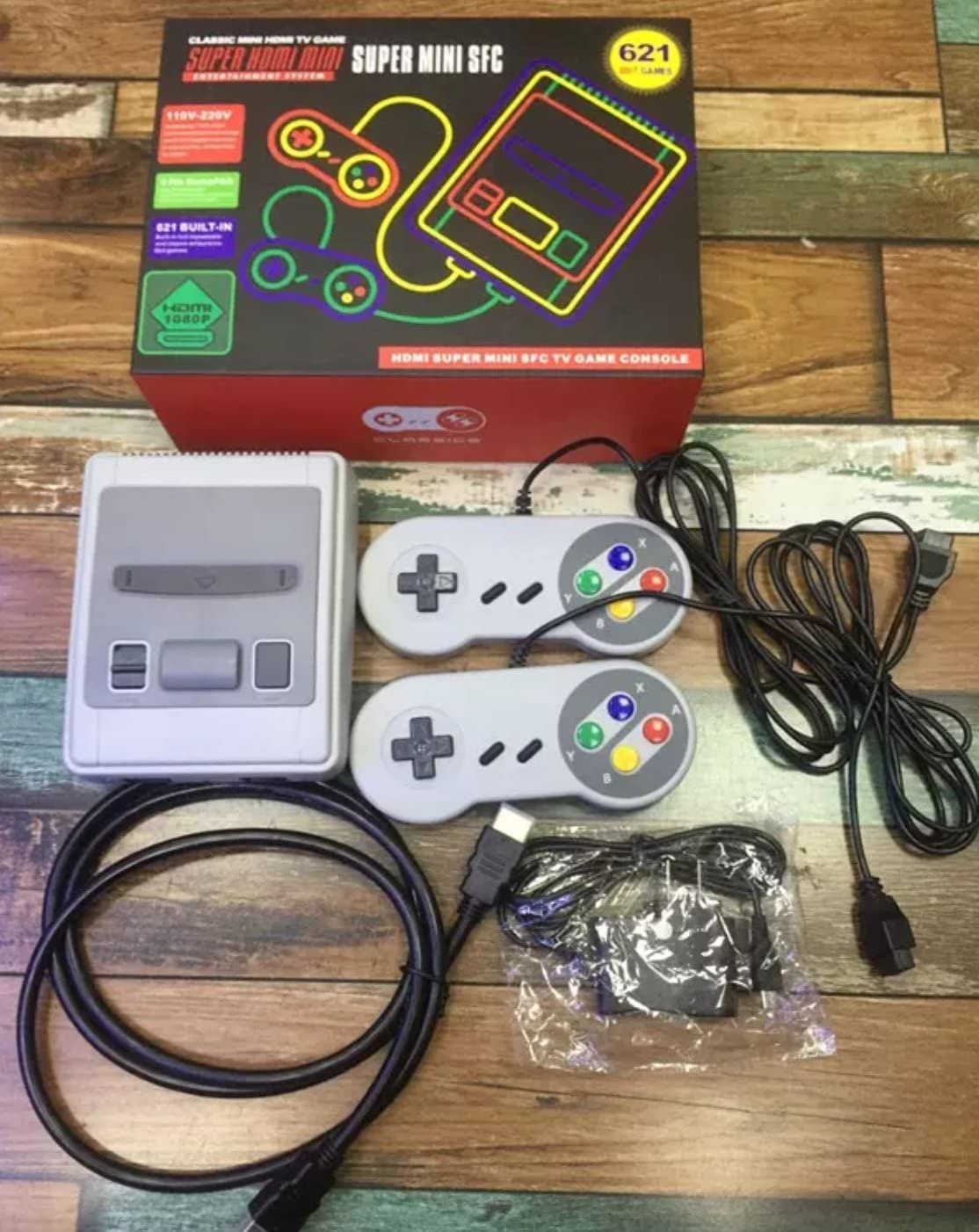 2018 Classic Built In 621 Games 2 Controller Hd Video Electrical Wiring Image Unavailable
