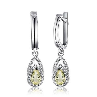 JewelryPalace Elegant 0.9ct Genuine Lemon Quartz Pendant Neckalce 925 Sterling Silver 18 Inches U4KCXFWH