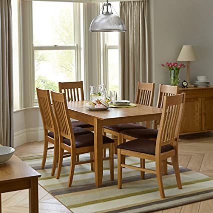 John Lewis Ellis Small Extending Dining Table And 6 Chairs Set Amazon Co Uk Kitchen Home