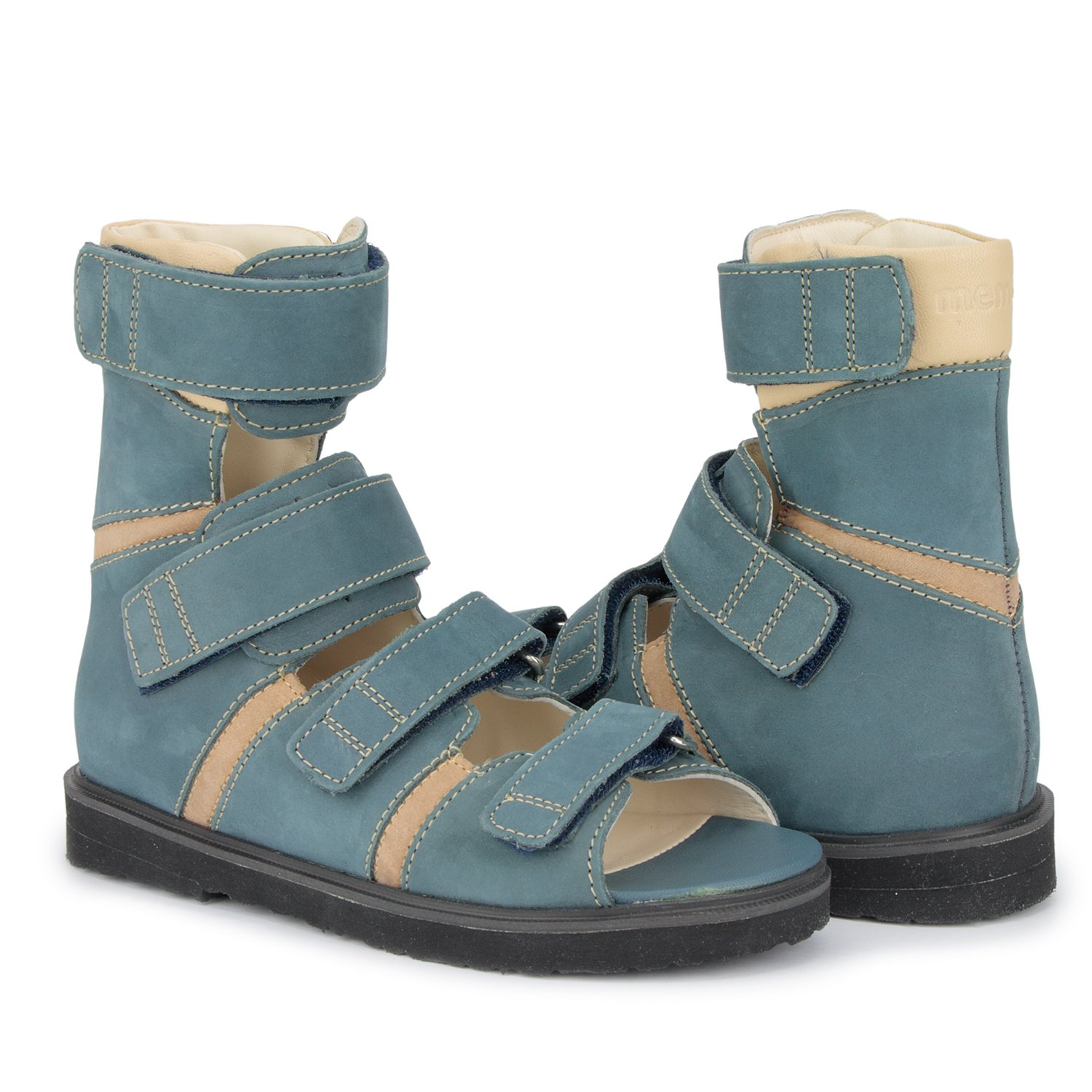 Memo Basic 1CH Suede CP Kids AFO Brace Sandal, 12.5 Little Kid M (30) by Memo (Image #8)