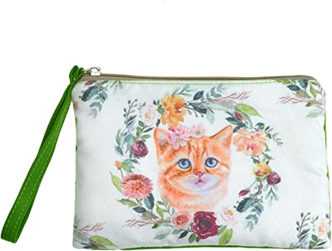 To-m Petty Canvas Cash Coin Purse Zipper Pouch Phone Pouch And Woman Make Up Bag