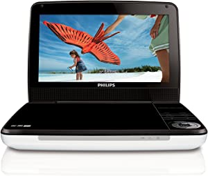 Philips PD9000/37 9-Inch LCD Portable DVD Player with 5 Hour Battery, White/Black (Old Model)