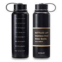 Amazon.com deals on Bottled Joy 32-Oz Stainless Steel Water Bottle w/Time Marked 1l