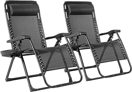 Goplus 500-lb Zero Gravity Chairs 2PCS