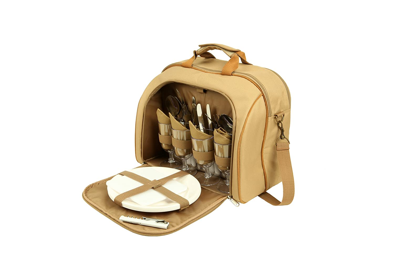 Oztrail - Bolsa de picnic para 4 personas con compartimento isotérmico integrado Oztrail MurrayOCP-PSMUR-D Murray 4 Person Picnic Set, set de picnic,
