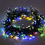 [18M 60ft 75 Led] Outdoor String Lights Decoration, 8 Mode (Steady, Flash), Diwali,Garden Decor, Halloween, Christmas, Tree, Party, Holiday (Multi-Color) (18M)