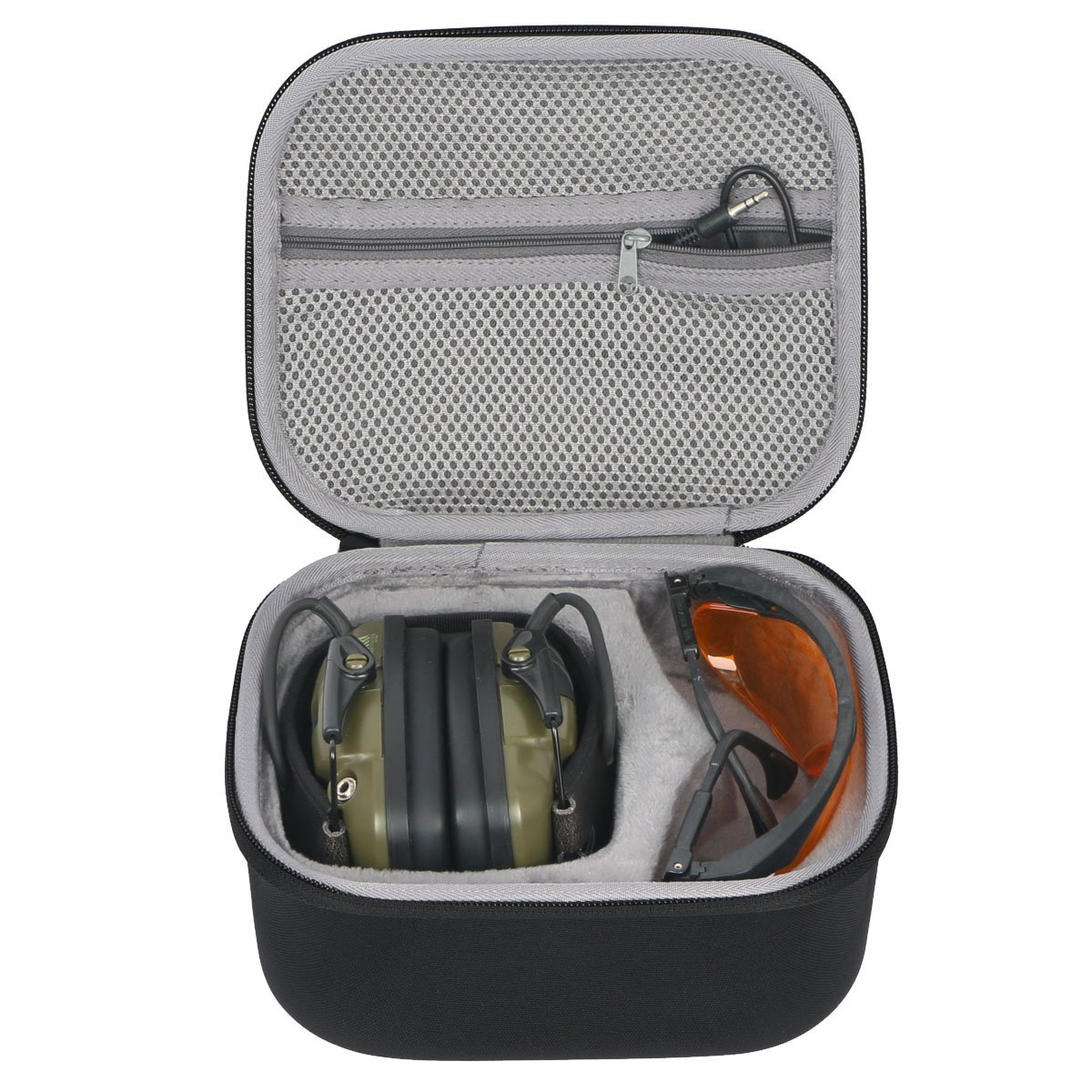 co2crea Hard Travel Case for Howard Leight Impact Sport OD Electric Earmuff and Genesis Sharp-Shooter Safety Eyewear Glasses by Co2Crea
