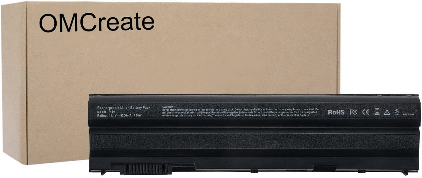 OMCreate T54FJ Battery Compatible with Dell Latitude E6420 E6430 E6520 E6530 E5530 E5520 E5430 E5420, Inspiron 5720 7720 5520 7520 5420 7420,fits P/N M5Y0X 8858X 2P2MJ P8TC7 T54F3 4YRJH