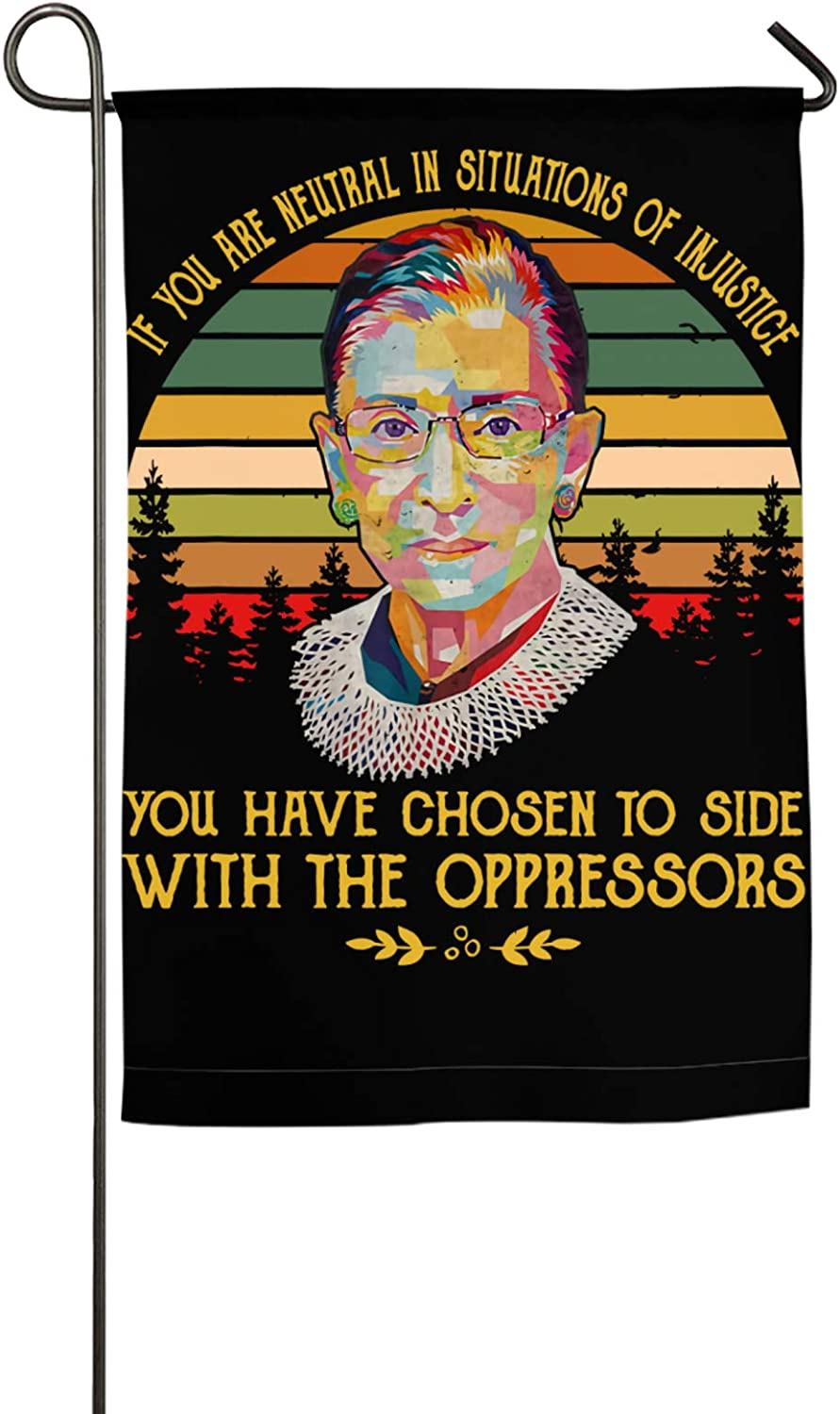 Oussirro Ruth Bader Ginsburg Notorious Quote Feminist Gift Decorative Garden Sign Courtyard Outdoor Decoration18 X27