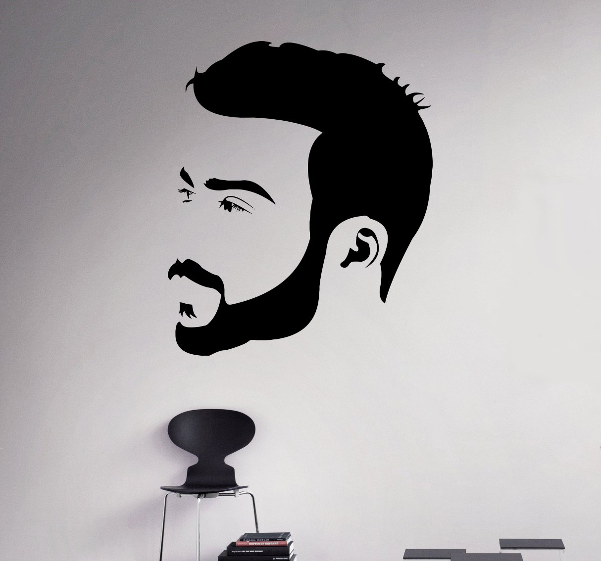 amazon com man hair salon wall decal beauty salon wall vinyl amazon com man hair salon wall decal beauty salon wall vinyl sticker hair care wall graphics hair style shop window sticker 19 hs home kitchen