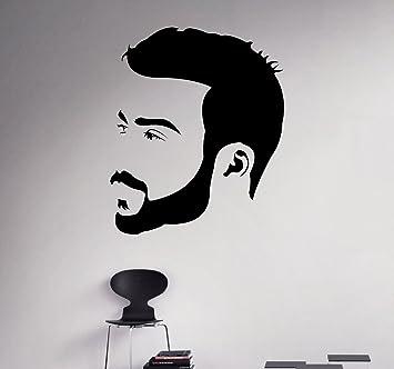 Amazoncom Man Hair Salon Wall Decal Beauty Salon Wall Vinyl - Wall vinyl stickers